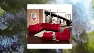 Lexington Modern Waverunner Modular Sectional Sofa Set Red 5-piece