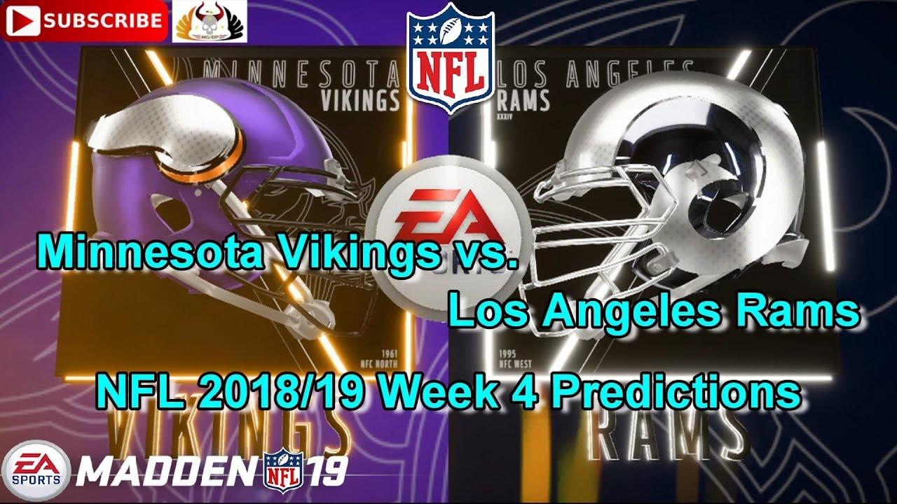 7f73179c Minnesota Vikings vs. Los Angeles Rams | NFL 2018-19 Week 4 | Predictions  Madden NFL 19