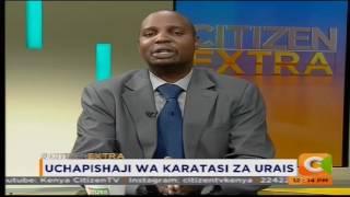 Uchapishaji wa karatasi za urais #CitizenExtra