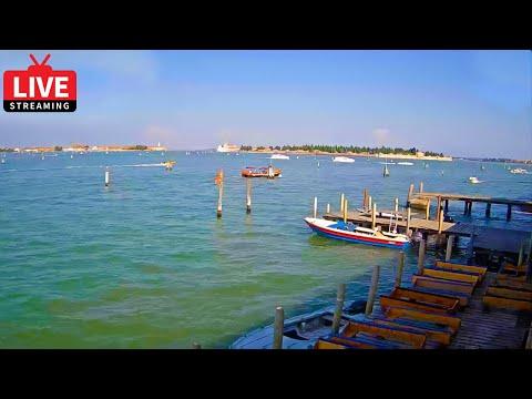 Venice Italy Live Cam - Laguna Est Venice - Stream from Cantieri Biasin