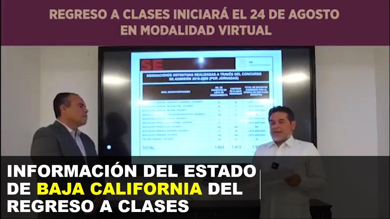 Soy Docente: INFORMACIÓN DEL ESTADO DE BAJA CALIFORNIA DEL REGRESO A CLASES