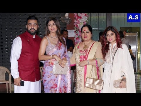 Shilpa Shetty Shamita Shetty Raj Kundra arrives at Arpita Khan Diwali celebration thumbnail