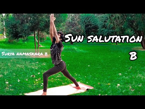 sun salutation b for beginnerssurya namaskara b  youtube
