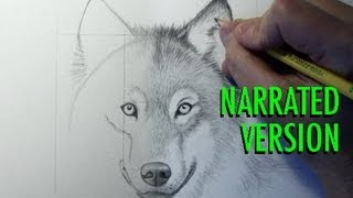 How to Draw a Wolf (Narrated)(SUBSCRIBE: http://bit.ly/markcrilleySUBSCRIBE All 3