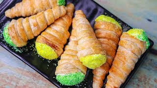 Cream Roll Recipe | Eggless & Without Oven | Puff Pastry Sheet Recipe | Yummy Cream Rolls