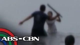 Nene, hinabol, hinataw ng tatay sa Manila Bay