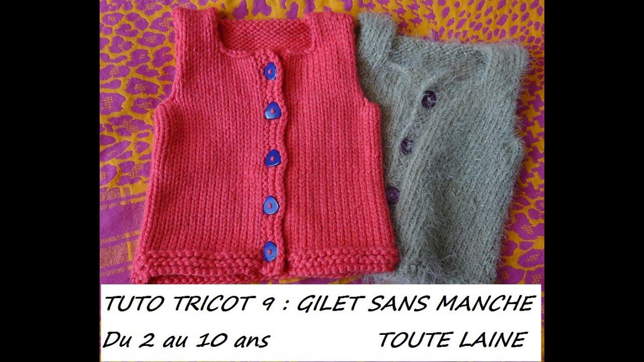 gilet tricot sans manches