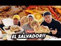 IS SALVADORAN DIFFERENT FROM MEXICAN FOOD? PUPUSA BUFFET! | Fung Bros