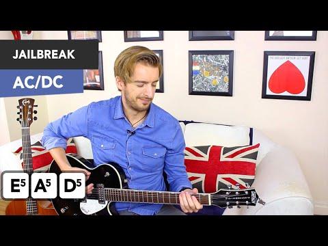 AC/DC - Jailbreak Guitar Tutorial - Easy AC/DC Songs on Guitar