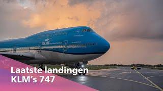 De final touchdowns van de laatste KLM Boeing 747s