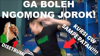 Video NGOMONG JOROK = DISETRUM SAMPE KURSI PATAH! | Try Not To Swear Challenge download MP3, 3GP, MP4, WEBM, AVI, FLV November 2017