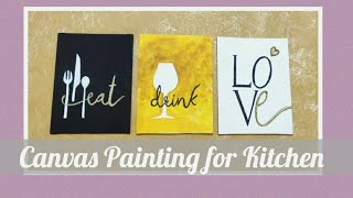 Canvas Painting For Kitchen Wall Decor Youtube