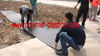 PE Plastic Ground Protection Mat Site Testing