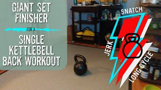 Bodybuilding with Kettlebell Giant Sets : Shrug Rows and Somersault Squats