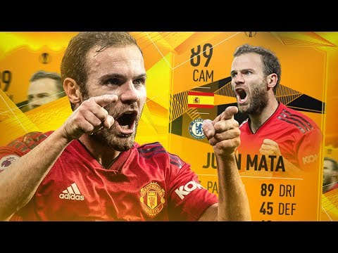THIS CARD IS INSANE! 89 EUROPA LEAGUE MOMENTS MATA PLAYER REVIEW! FIFA 19 Ultimate Team
