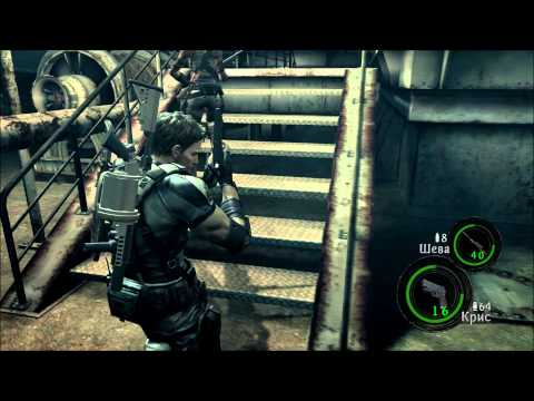 Смотреть прохождение игры [Coop] Resident Evil 5 - Серия 16: В клетке..