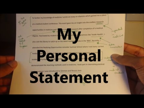 My Medicine Personal Statement - Kings College/Newcastle/Durham/Southampton/Nottingham