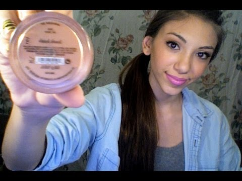 Review Swatch and Demo Over bareMinerals Blush in hush hush - YouTube