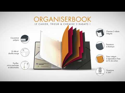 Organiserbook Oxford International - Cahier, trieur et chemise 3 rabats !