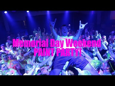 (DJ GIG LOG) DJing an insane chem-free PAINT PARTY!