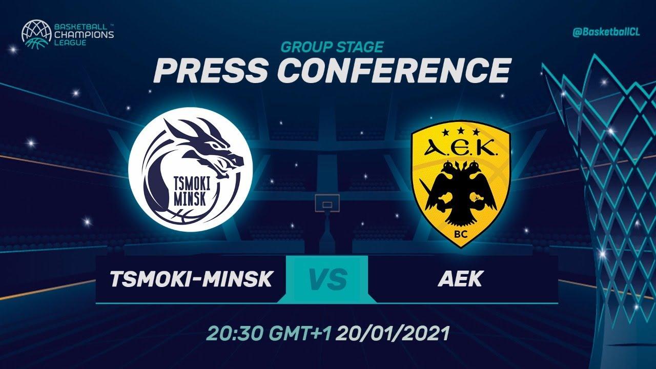 Tsmoki-Minsk v AEK - Press Conference
