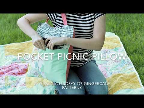 Pocket Picnic Pillow Tutorial DIY using all Organic Materials!