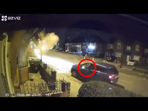 Drive-By Shooting Caught On CCTV (Birmingham)
