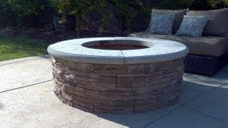 كيفية بناء حفرة النار مع القشرة الحجر التي تواجه - DIY - إضافة للشواء شواء
