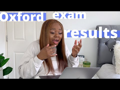 opening my FINAL year OXFORD University results -  my final graduation grade.