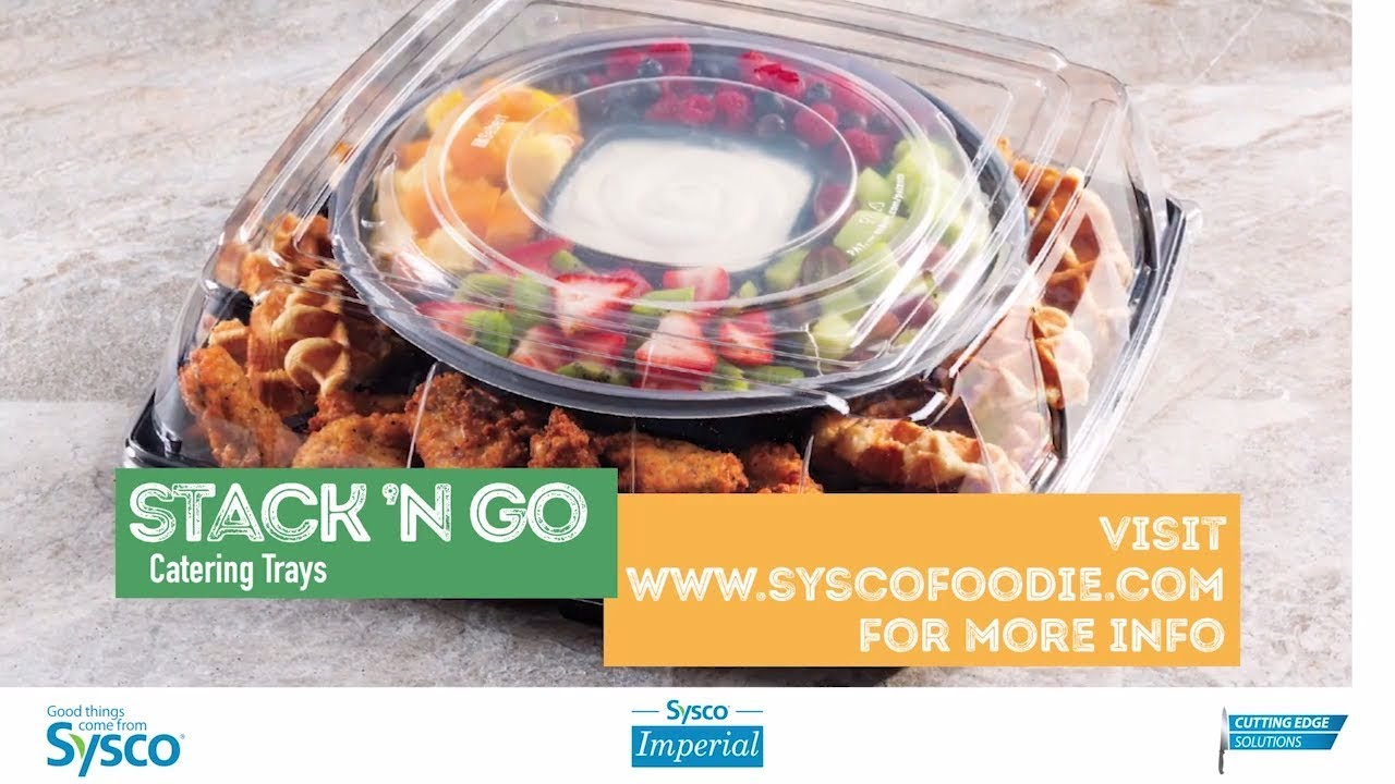 Sysco Imperial Stack 'N Go Catering Trays