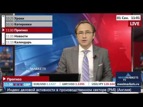 01.09.15 (11:00 MSK) - Прогноз рынка Форекс. MaxiMarkets форекс ТВ.