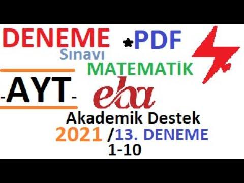 EBA 7.TYT DENEME 2021 MATEMATİK SORULARININ ÇÖZÜMLERİ (21-40) VE CEVAP ANAHTARI
