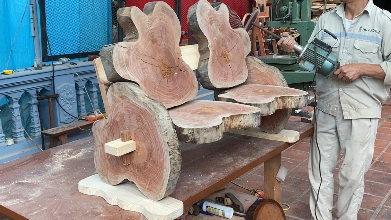 Extremely Creative Ideas For Woodworking Projects Recycling // Build Unique Outdoor Garden Chair