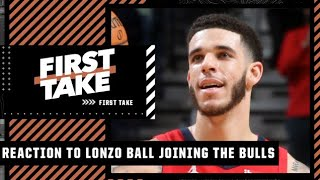 Reacting to Lonzo Ball agreeing to a 4-year/$85M deal with the Bulls via sign-and-trade | First Take