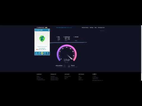 Trust.Zone Speed Test - Vancouver British Columbia VPN Server 2017-09-26