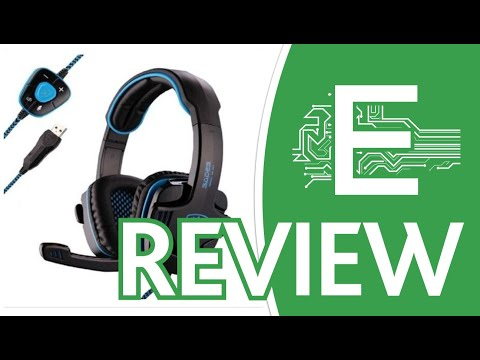 Sades Stereo 7.1 Surround Pro USB Gaming Headset w Overview
