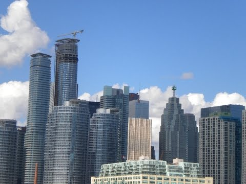 Boat Ride on Lake Ontario with Toronto Skyline View, Canada