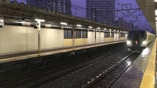 【おどりこ】E257系 特急 踊り子@西大井駅(通過)