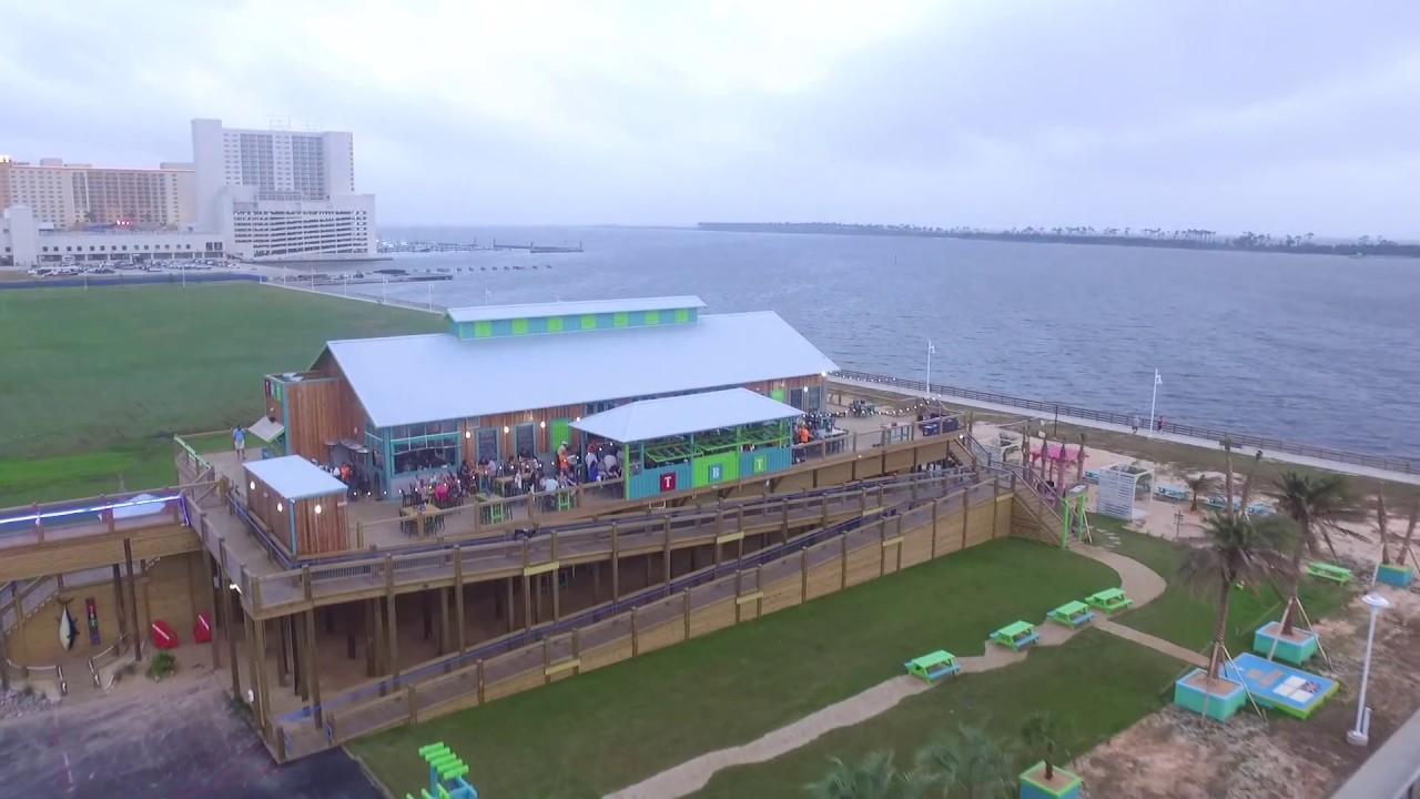 Flyover Blind Tiger Harrahs Biloxi Casino On Beach Youtube