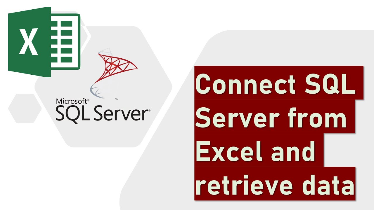 Connect SQL Server from Excel and retrieve data - YouTube