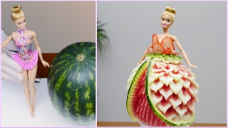 Repeat youtube video BARBIE WATERMELON DRESS By J Pereira Art Carving