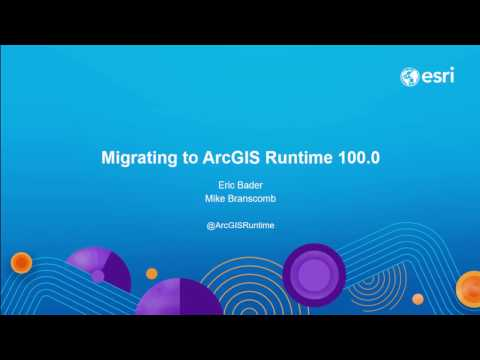 ArcGIS Runtime: Migrating from ArcGIS Engine