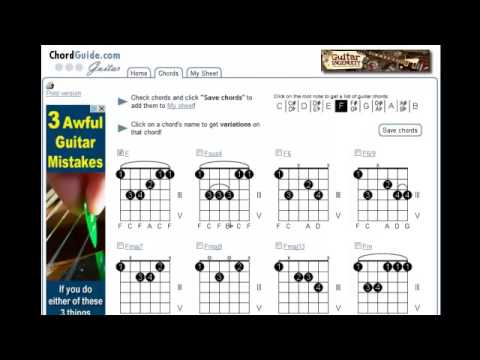 Free Printable Guitar Chords