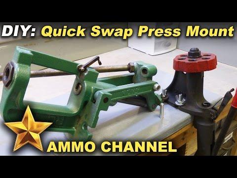 Reloading Bench: Simple DIY Quick Swap Press Mount