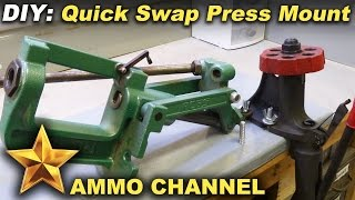 Reloading Bench: Simple Diy Quick Swap Press Mount