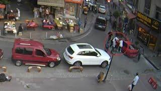 Samsun'da park yüzünden işlenen cinayet kamerada!