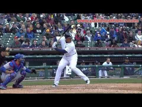 Miguel Cabrera Slow Motion Baseball Swing Hitting