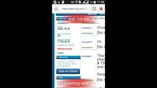 Ahmoney lừa đảo( phishing web)