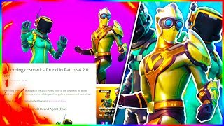 "NEW Fortnite SKINS + ITEMS LEAKED! ""TOXIC TROOPER"" + ""MOISTY MERMAN"" & More Found In v4.2 PATCH!"