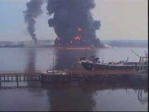 gas barge blows up